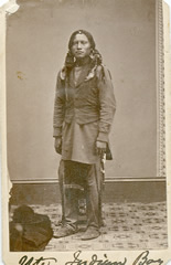 Ute Indian boy 1870s trading card