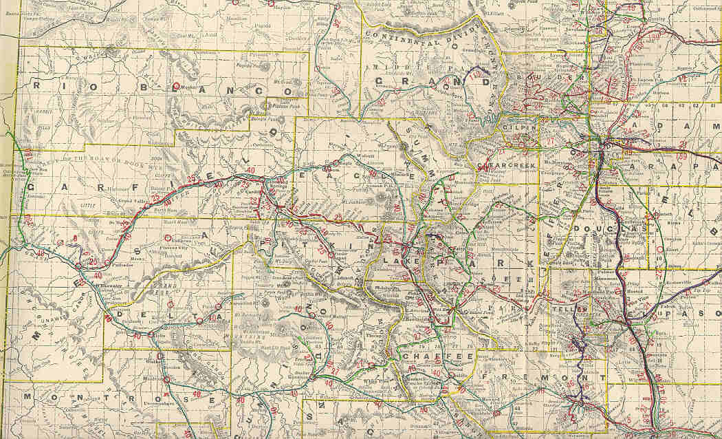 Chaffee County Colorado Maps - Map of colorado